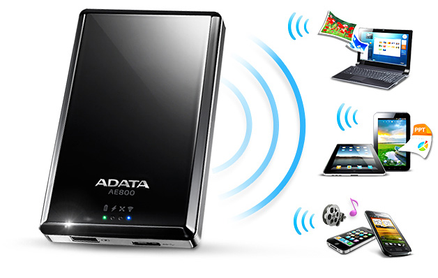 ADATA DashDrive Air AE800 con modulo wifi per lo streaming dati