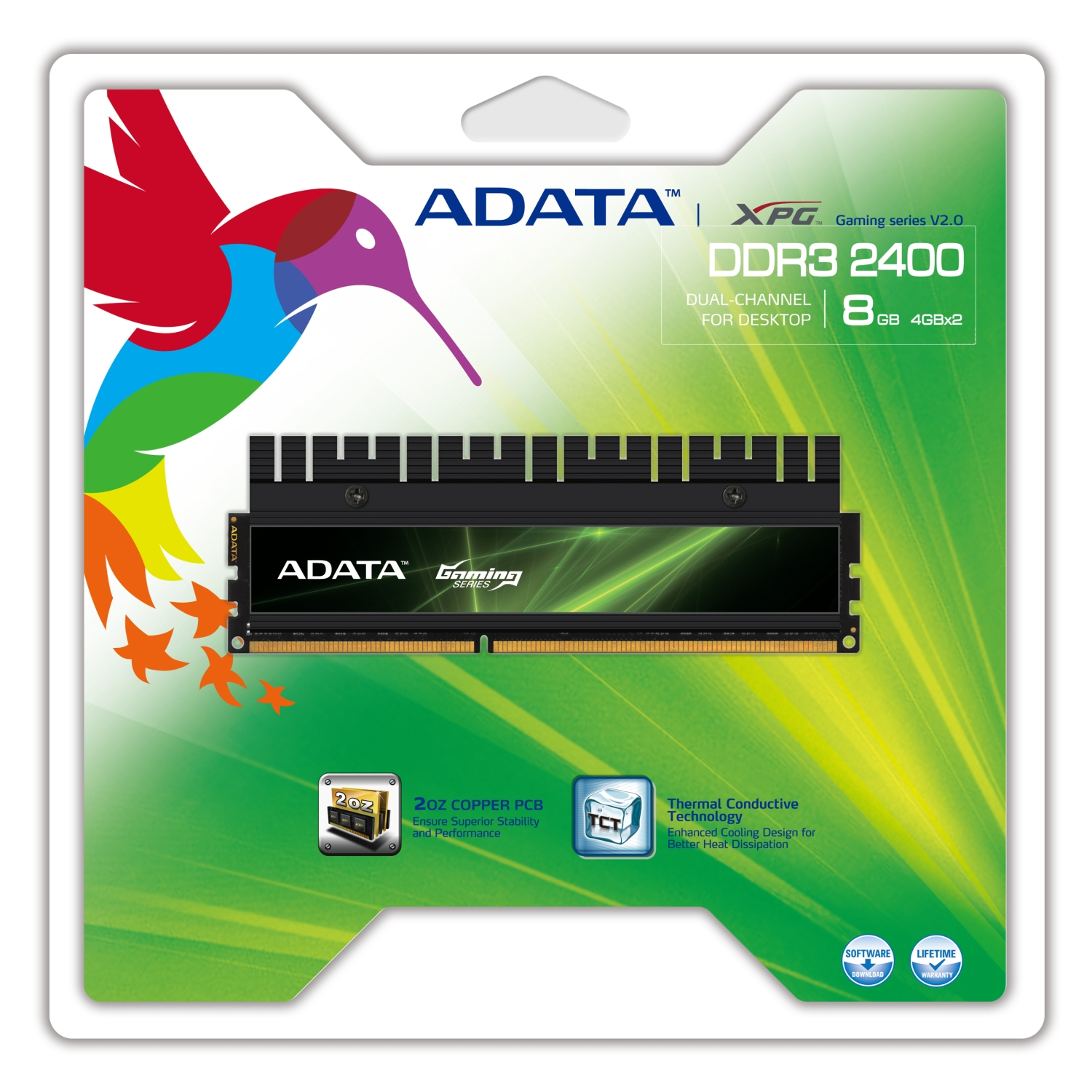 ADATA XPG Gaming DDR3 2400 Dual 8GB package HiRes 01