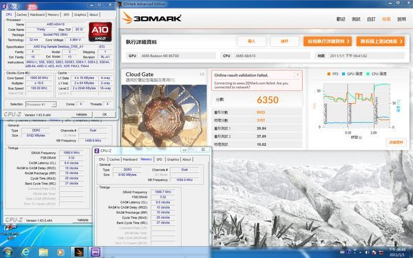 a10 6700 3dmark cloud gate