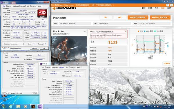 a10 6700 3dmark fire strike