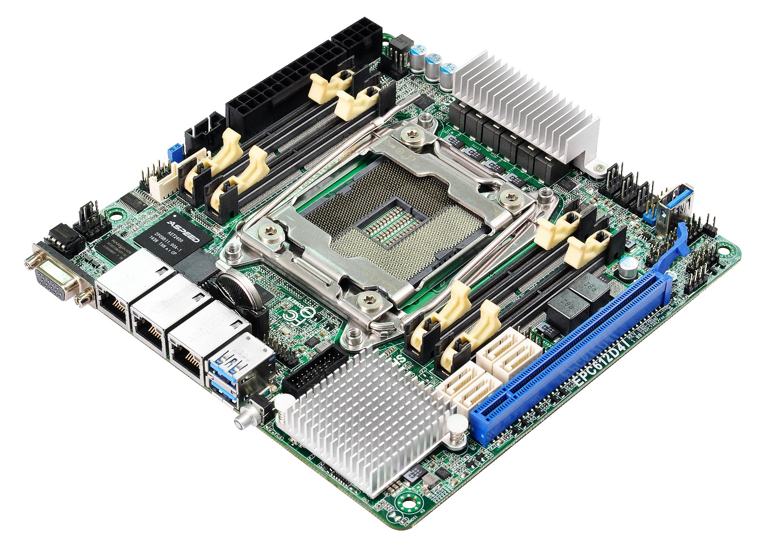 ASRock EPC612D4I; LGA2011v3 e quad channel in formato mini-ITX