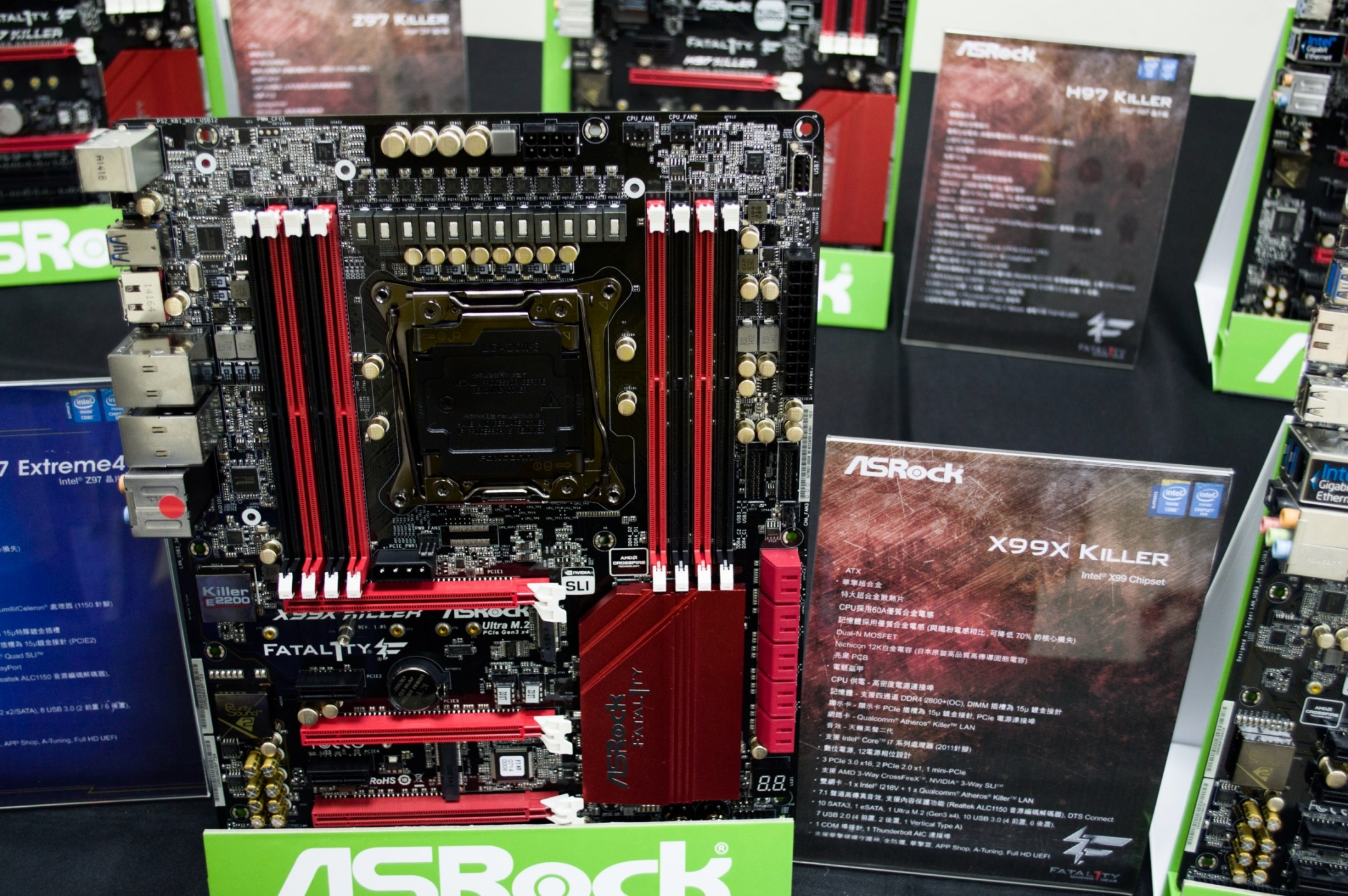 ASRock Fatal1ty X99X Killer, X99 Extreme6 e X99 Extreme4 in mostra