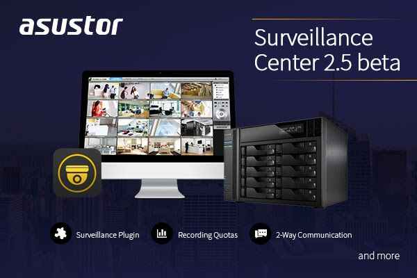 ASUSTOR rilascia Surveillance Center 2.5 Beta