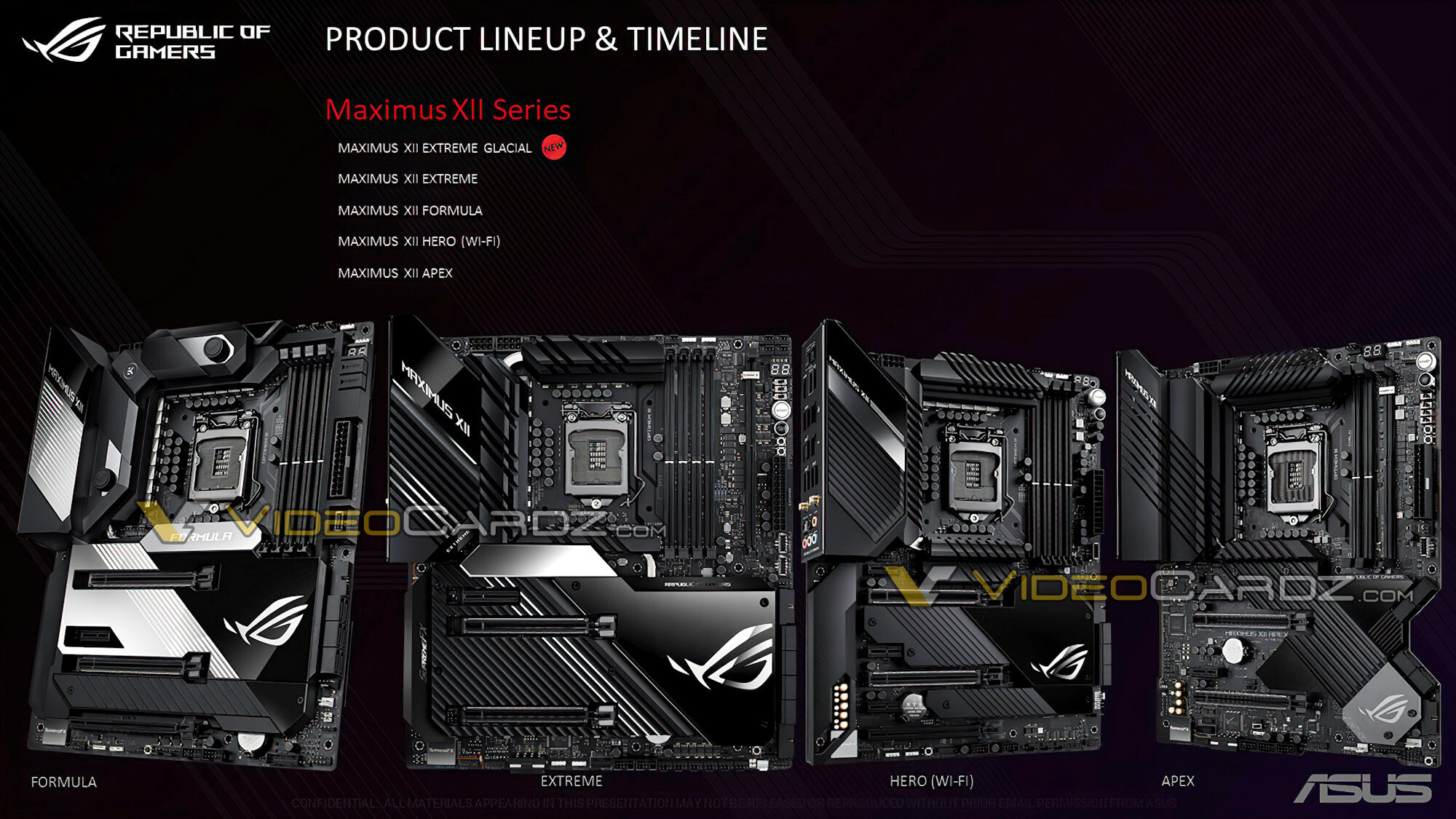 ASUS Z490 Maximus XII serie