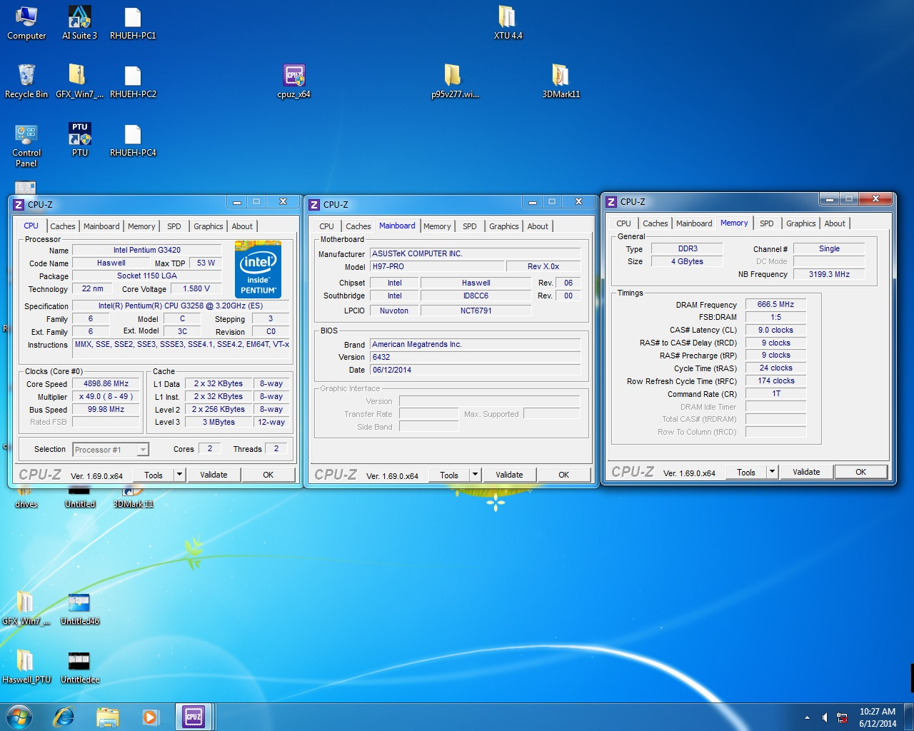 ASUS H97-PRO Overclock G3258