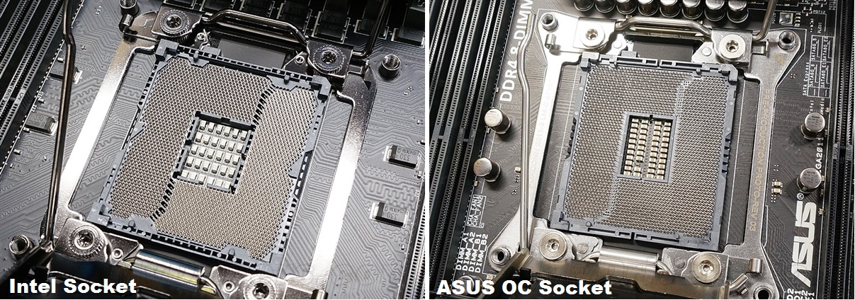 ASUS OC Socket; l'LGA2011-3 ha 60 pin in più