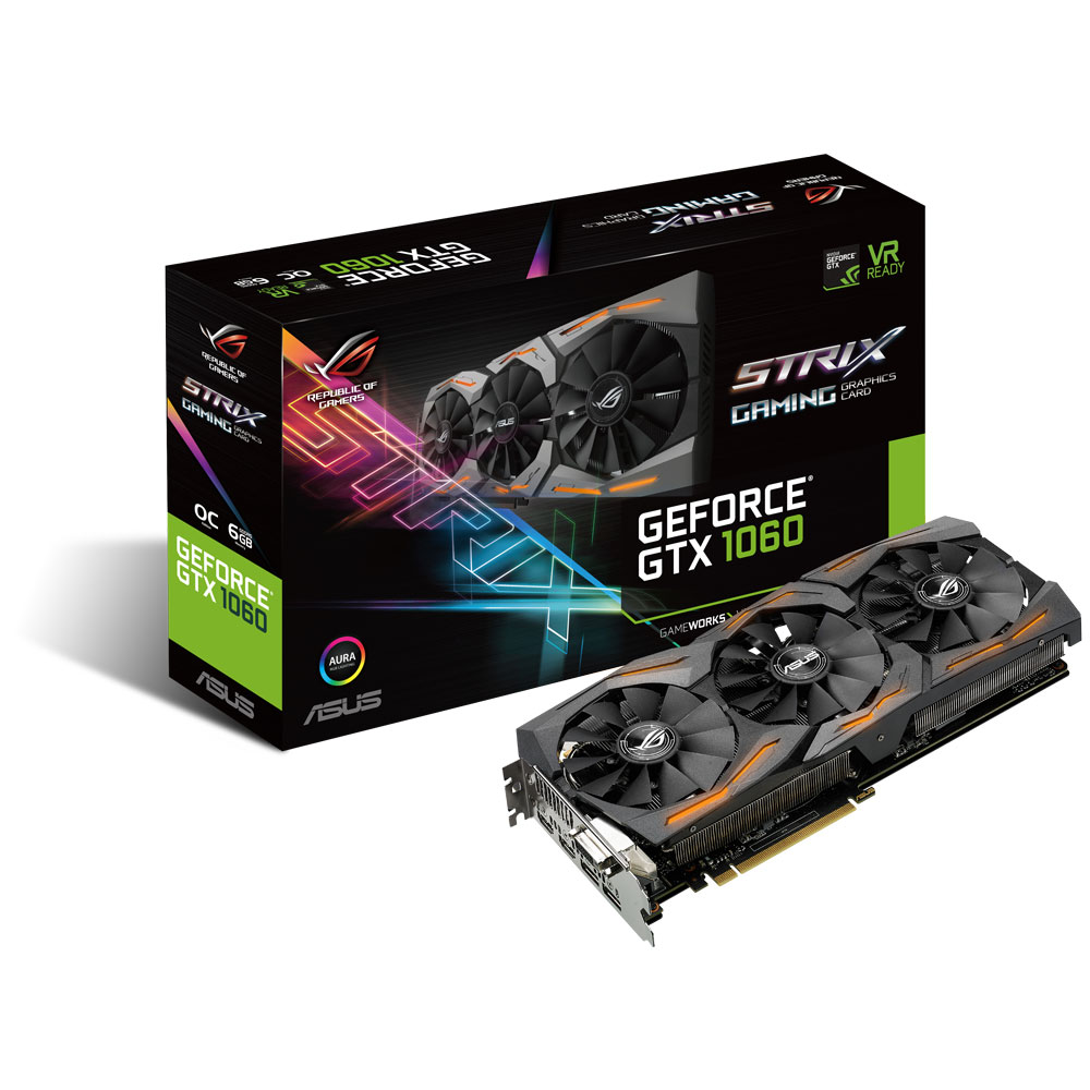 STRIX GTX1060 O6G GAMING box vga