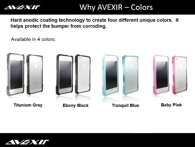 AVEXIR Bumper for iPhone 5 Colori