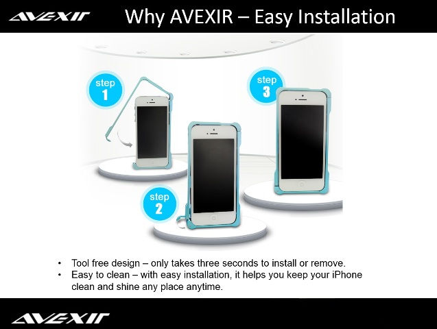 AVEXIR Bumper for iPhone 5 stup