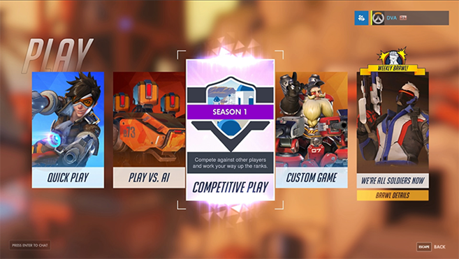 Modalità Competitiva ora disponibile in Overwatch