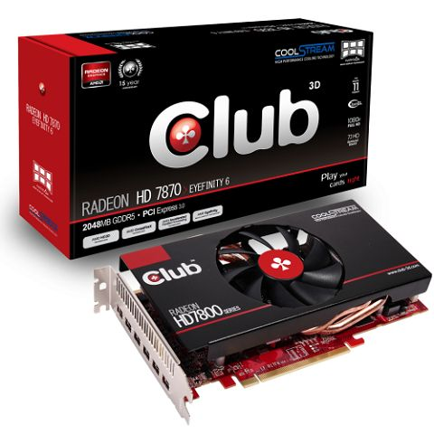 Club 3D introduce la Radeon HD 7870 Eyefinity 6