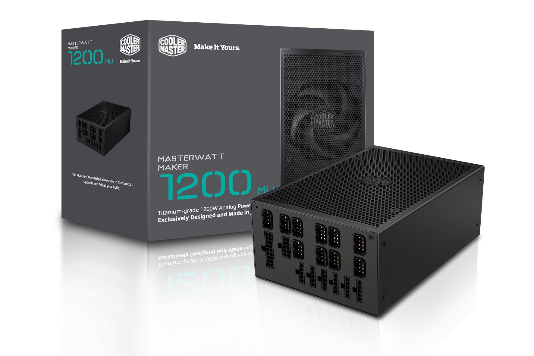 "Cooler Master presenta l'alimentatore MasterWatt Maker 1200 MIJ: ""The Art of Engineering"""