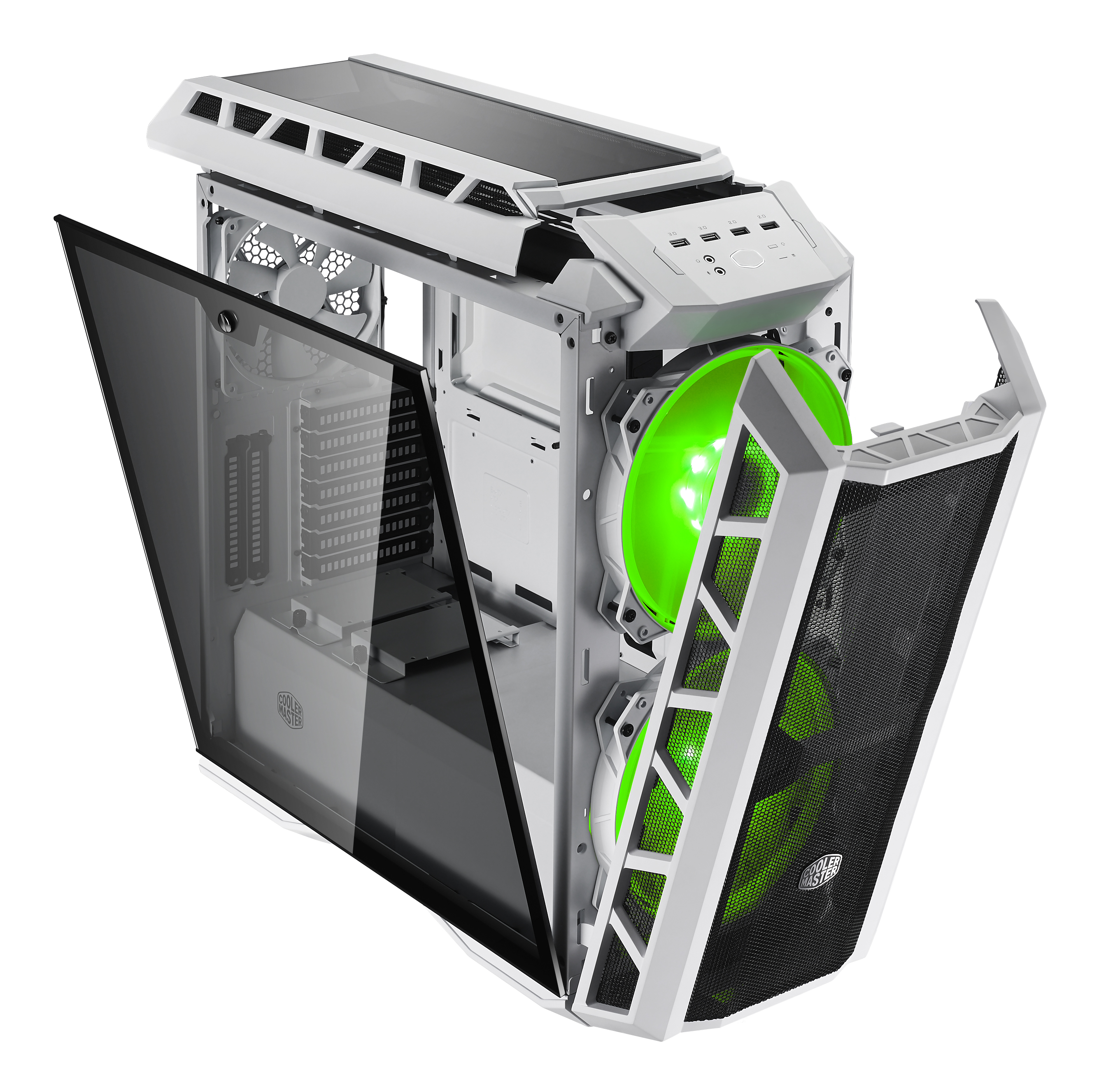 H500P MESH WHITE 45degree 01 open light Green