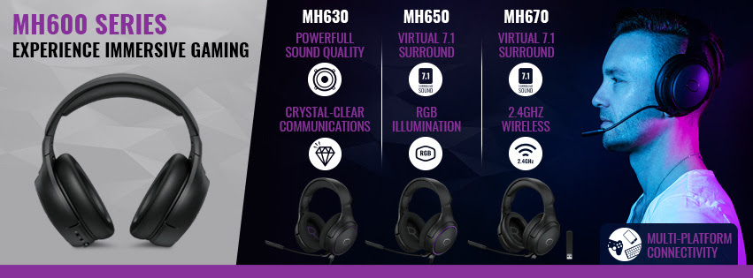Cooler Master presenta le cuffie gaming MH630, MH650 e MH670
