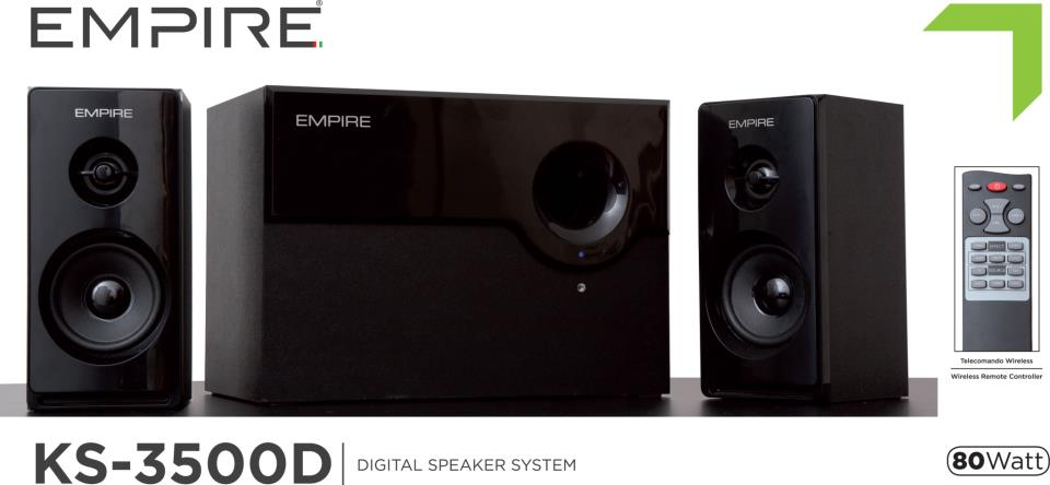 Empire KS-3500D: sistema audio 2.1 da 80 Watt