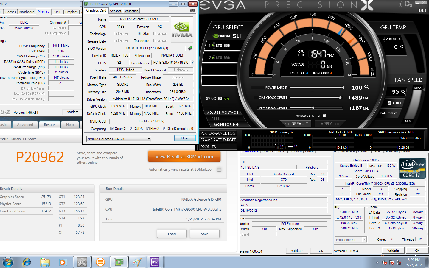 EVGA GeForce GTX 690 3dmark 11
