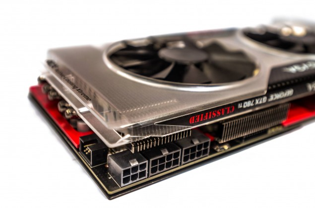 EVGA GTX 780 Ti Classified K|NGP|N con alimentazione da 8+8+6-pin