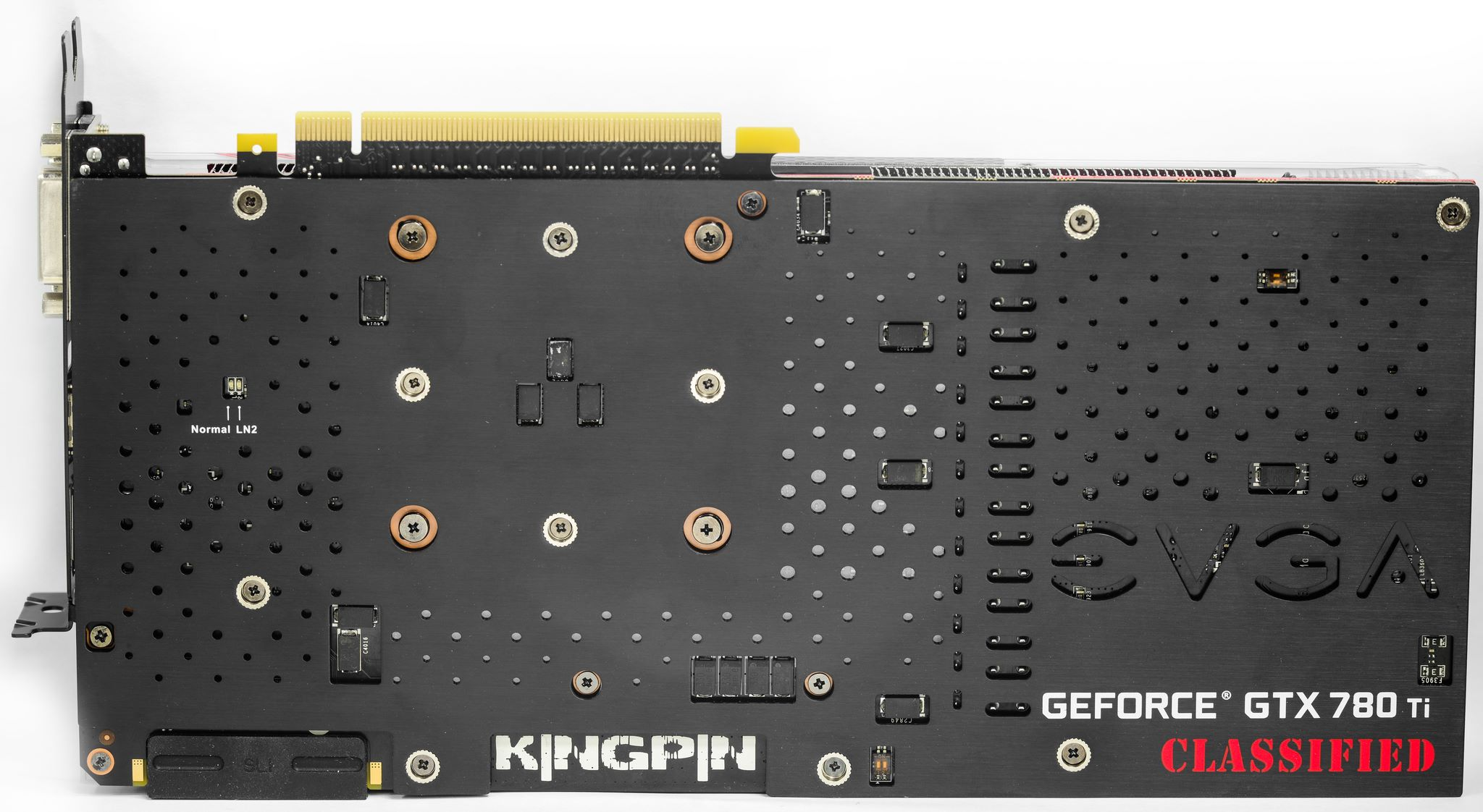 EVGA GTX 780 Ti Classified kingpin backplate