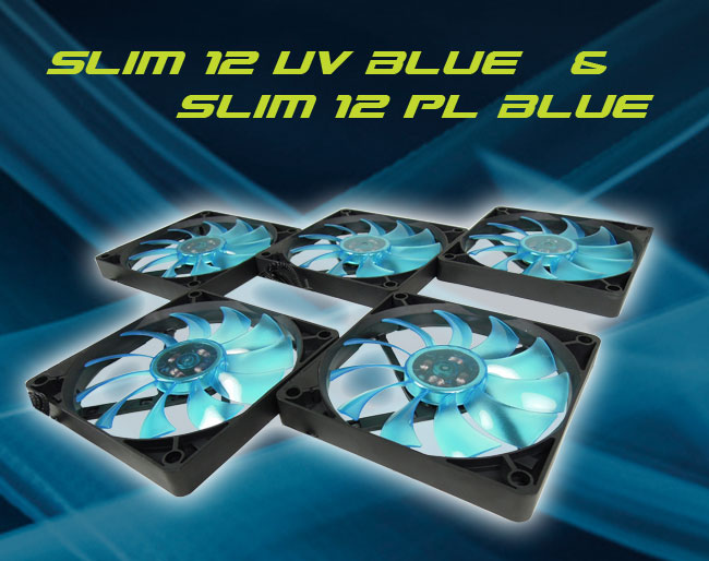 GELID Solution presenta due nuove ventole: Slim 12 UV Blue e Slim 12 PL Blue