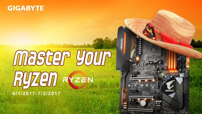 GIGABYTE annuncia Master Your Ryzen 2017 Overclocking Contest