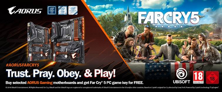 GIGABYTE regala Far Cry 5 con le motherboard Z370 AORUS Gaming