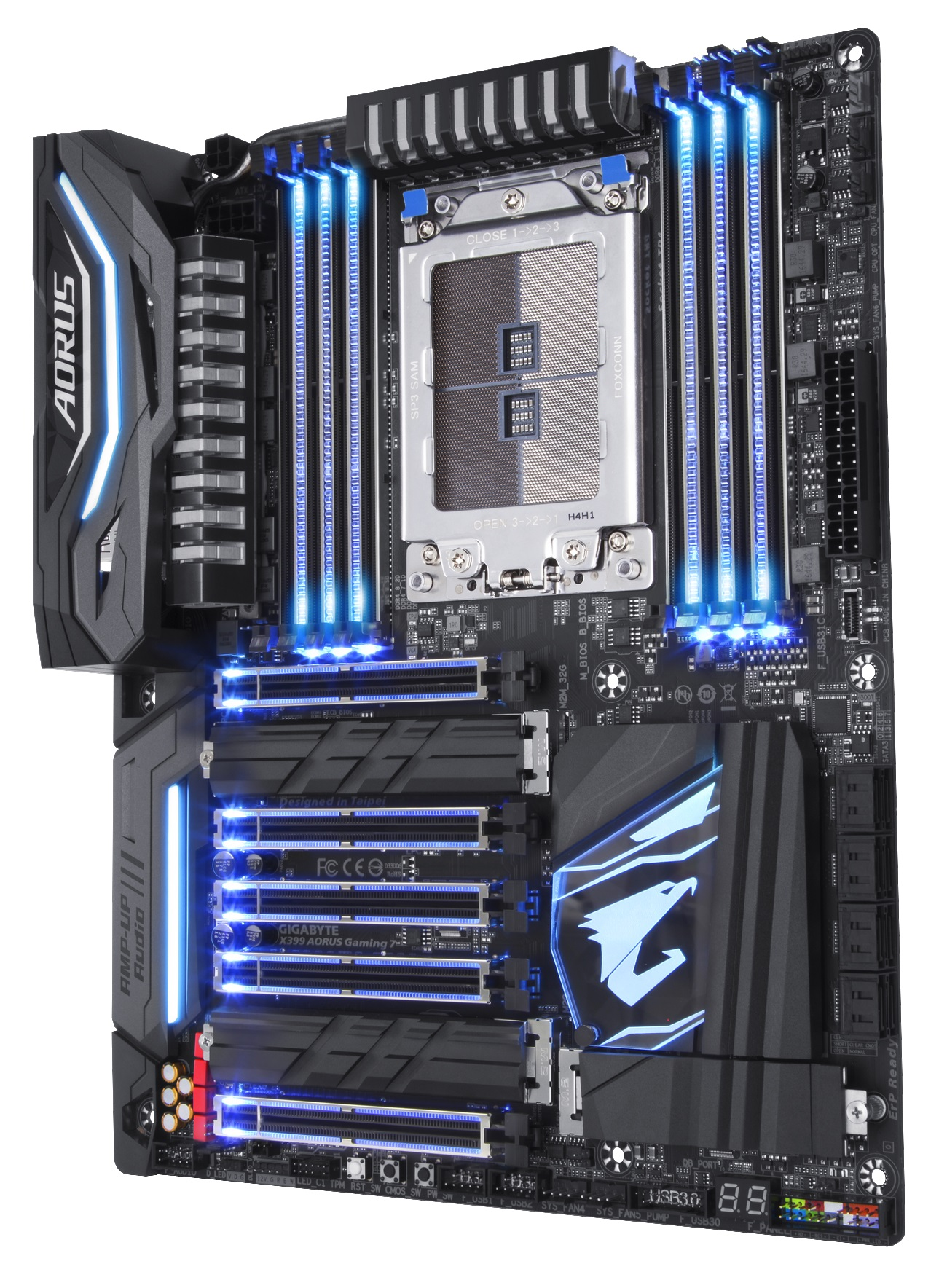 X399 AORUS Gaming 7 Rev10 SSBB light Blue CPU