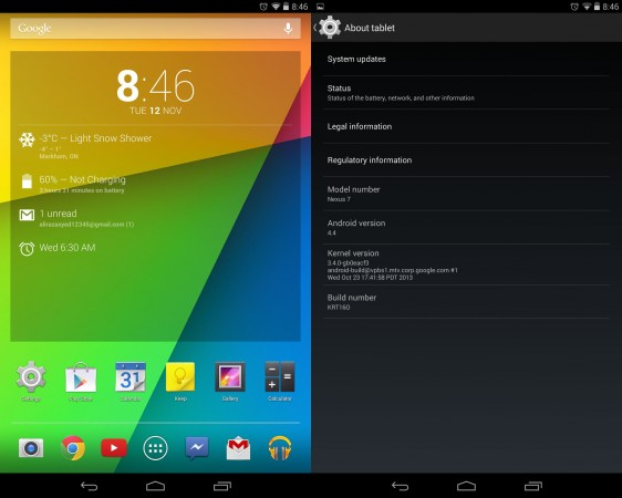 Android 4.4 KitKat disponibile per Nexus 7 e Nexus 10