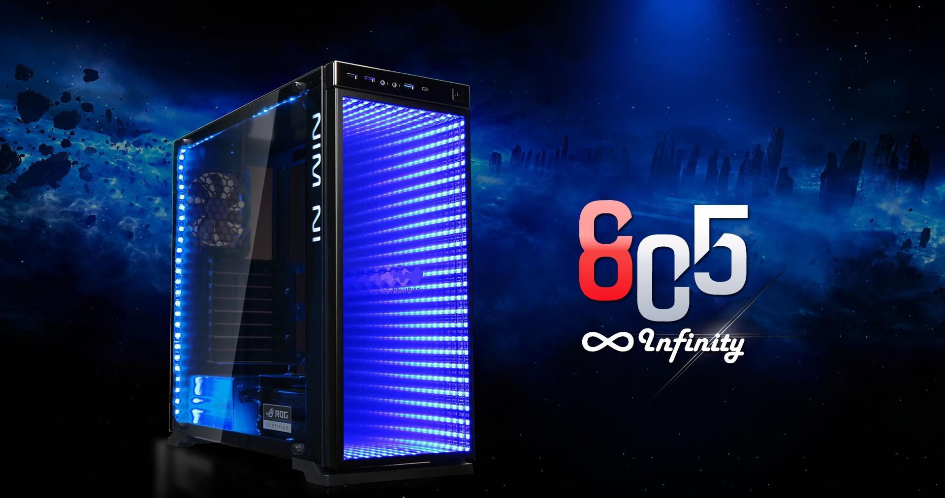 In win presenta l805 infinity con luci rgb & effetto infinity