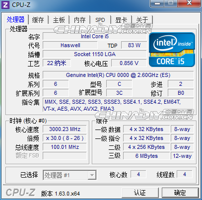 Intel Haswell Core i5 05