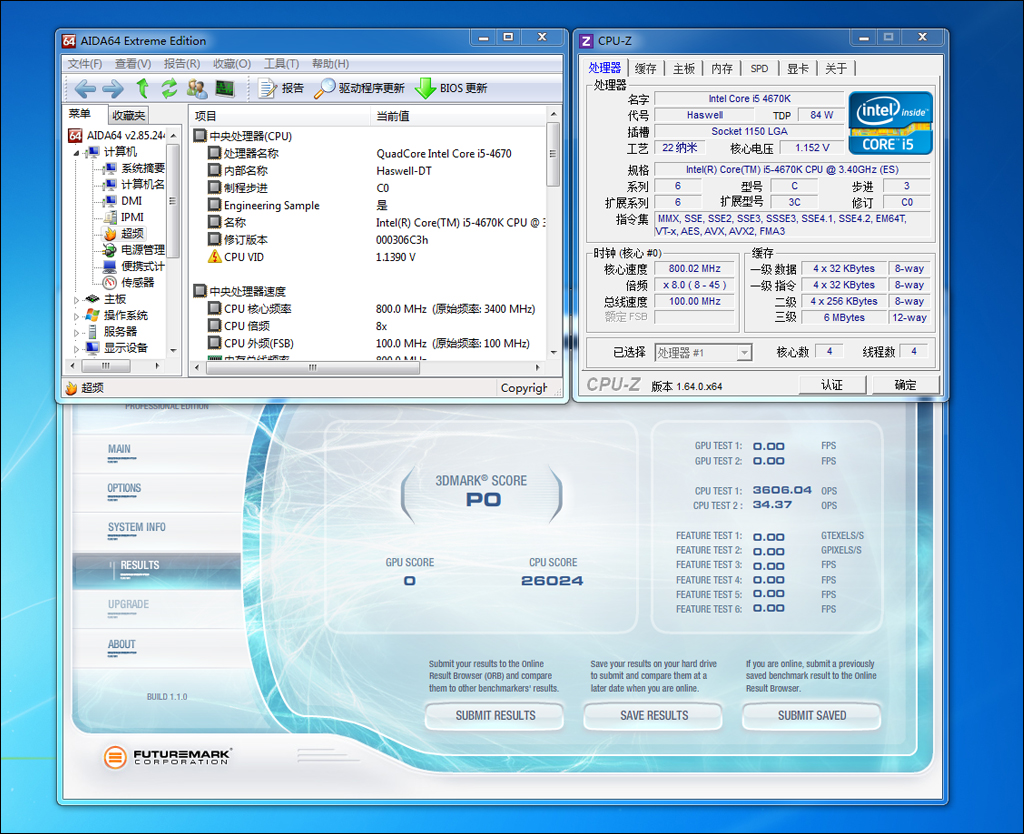 Intel Core-i5-4670K overclock