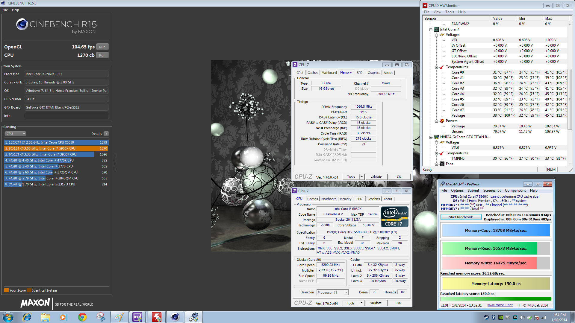 Intel-Core-i7-5960X 33 GHz-MaxxMem-Performance