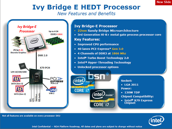intel ivy bridge-e spec