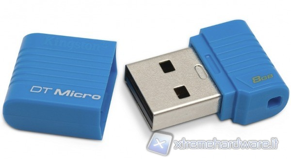 Kingston DataTraveler Micro 8 GB - drive USB 2.0 in formato ultra ridotto.