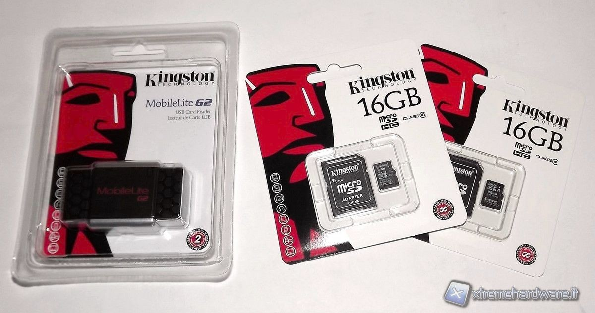 Kingston Flash Card microSD e Card Reader MobileLite G2