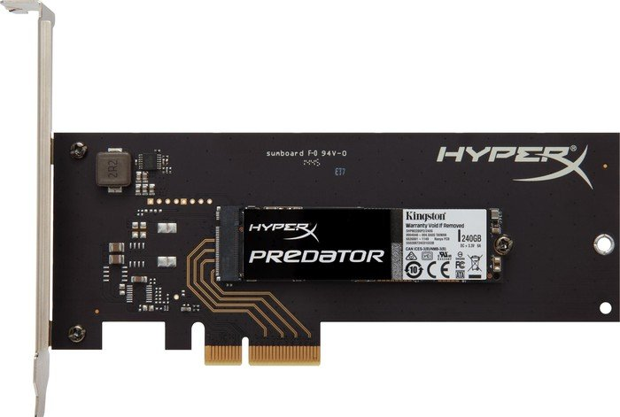 Kingston HyperX Predator PCIe SSD da 240GB e 480GB