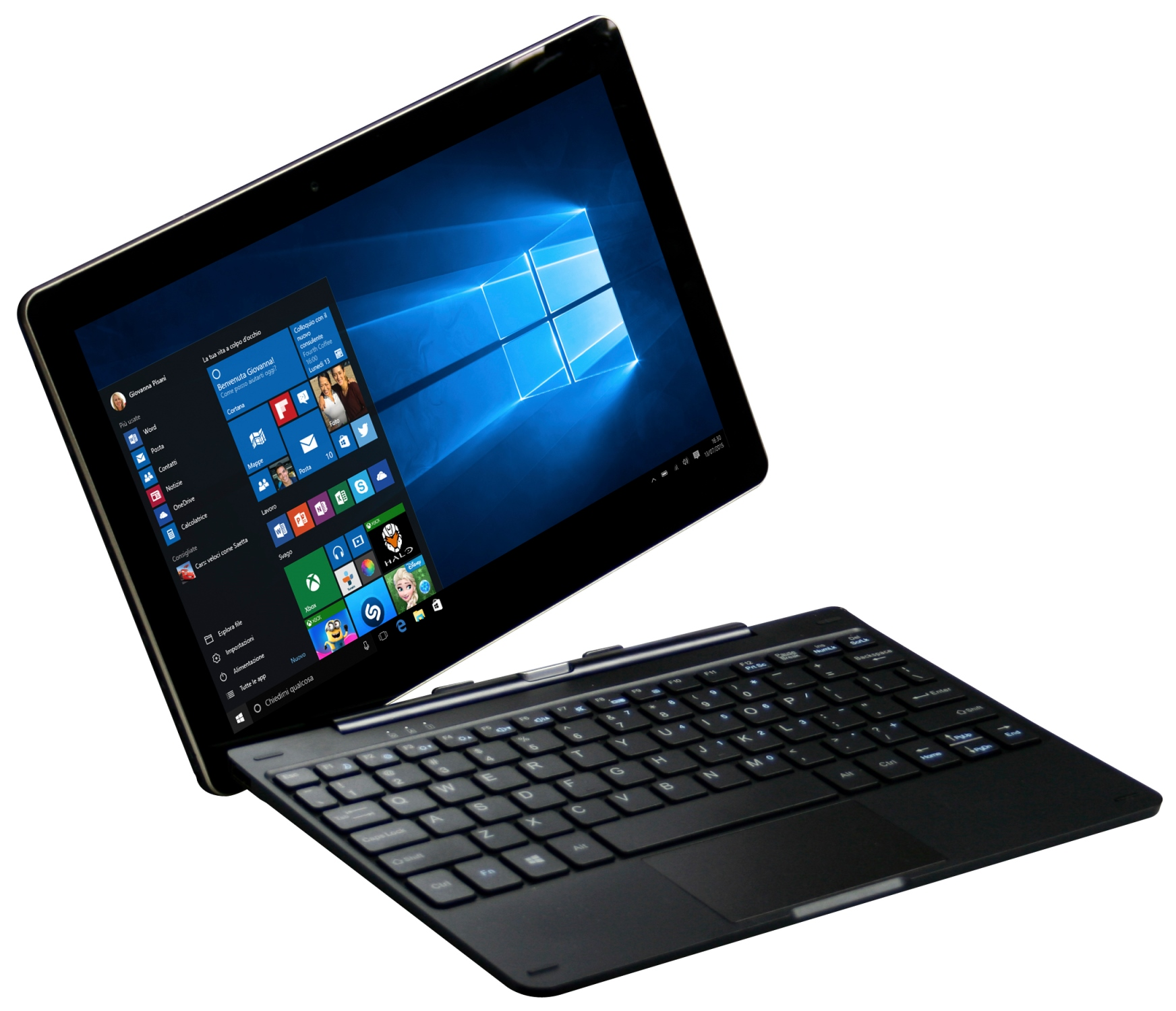 Mediacom WinPad 10.1 X201; il notebook-tablet 2 in 1 con Windows 10