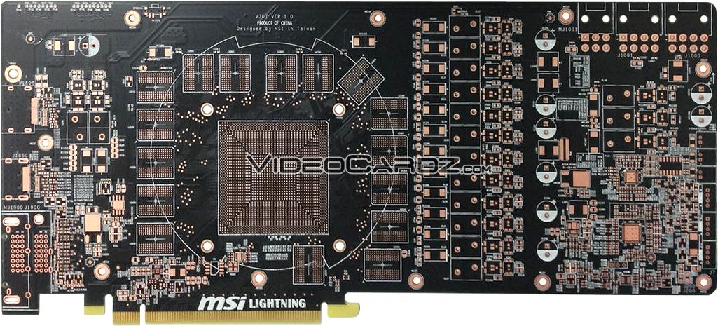 MSI R9 290X Lightning; il PCB in mostra