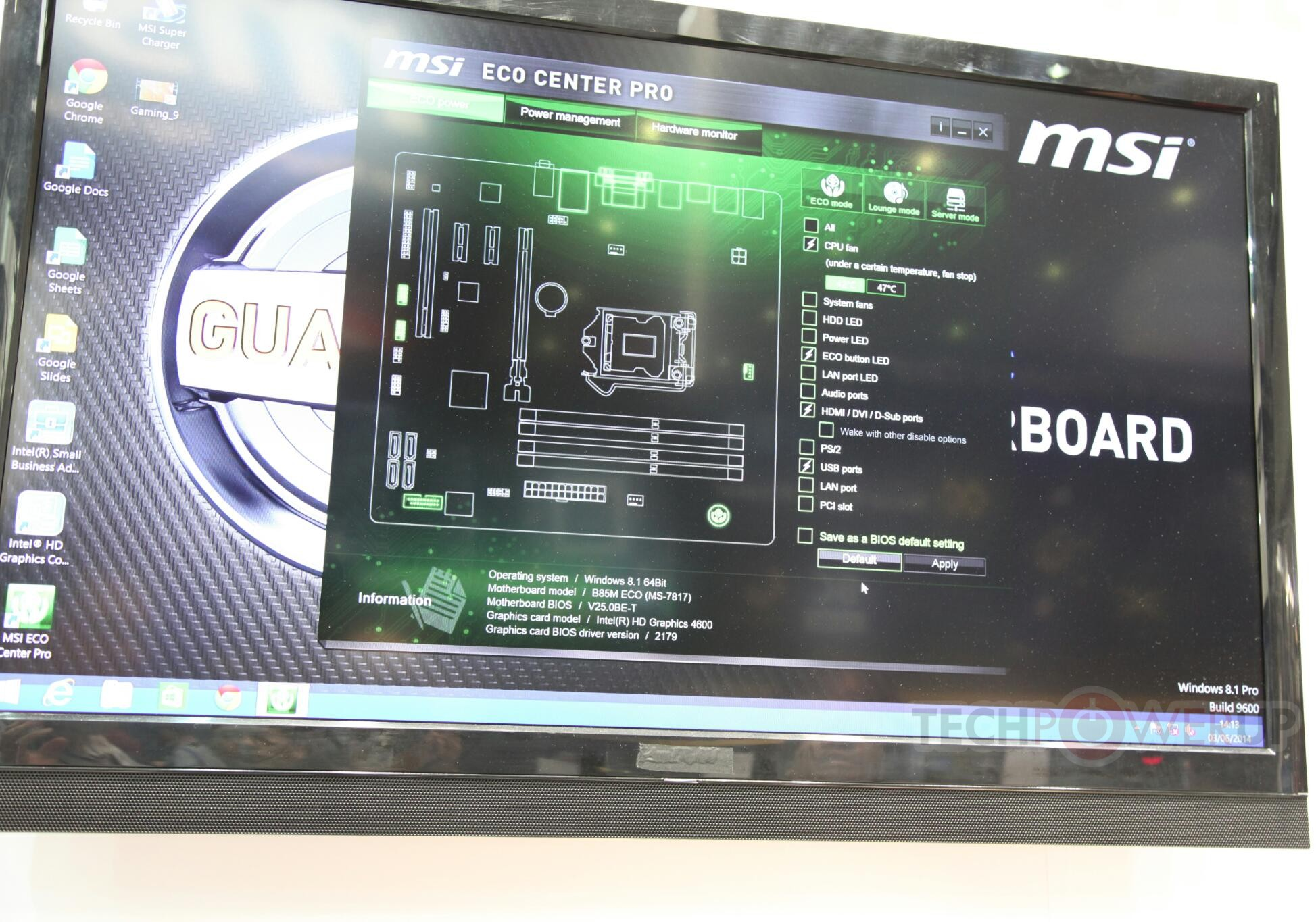 MSI ECO Center Pro
