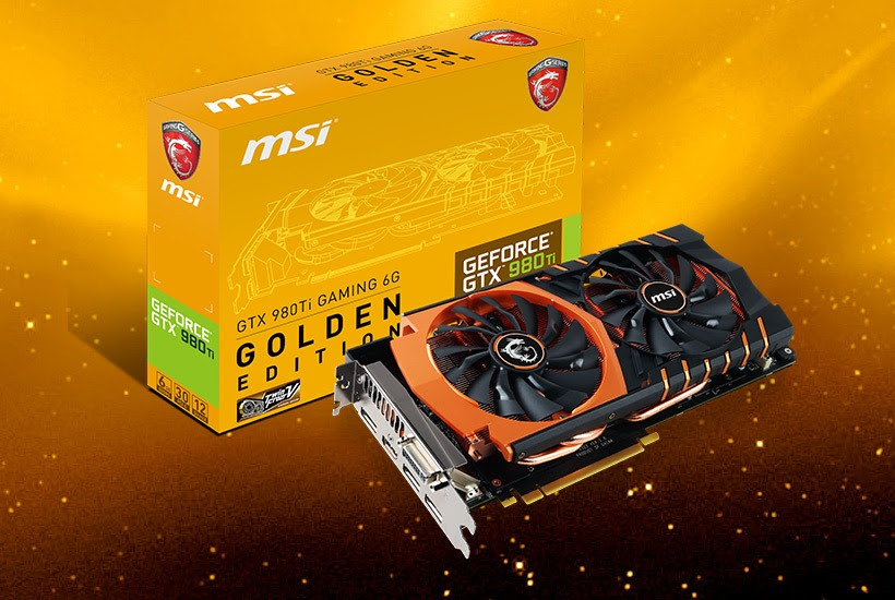 MSI GTX 980Ti GAMING 6G in versione Golden Edition