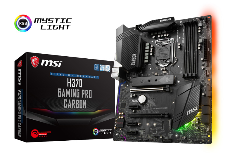 msi h370 gaming pro carbon box lr