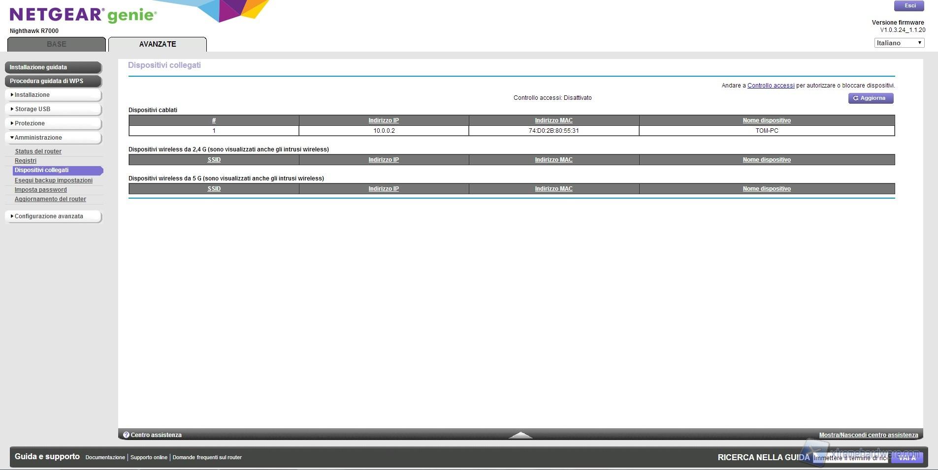 Aggiornare firmware decoder router Technicolor