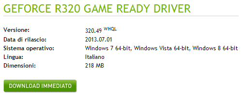 Disponibili al download i Driver Nvidia ForceWare 320.49 WHQL