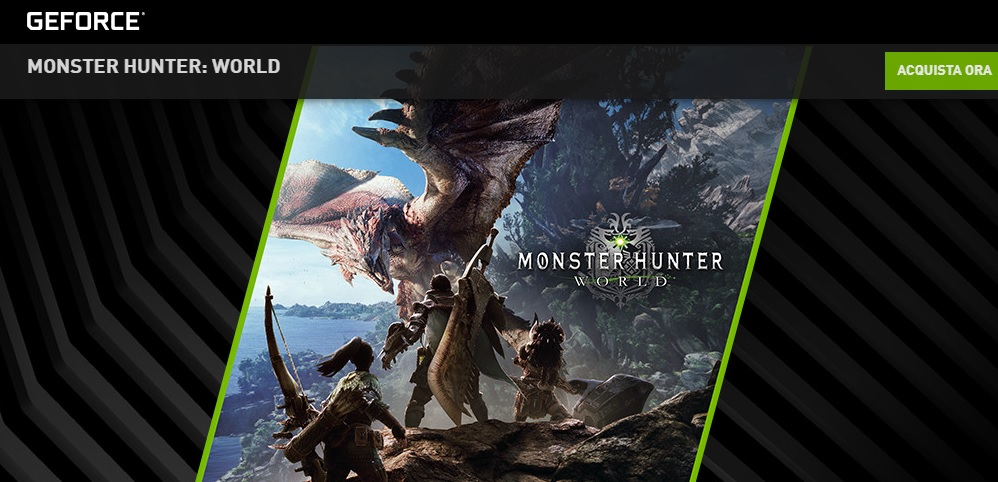Monster Hunter: World in omaggio con GeForce GTX serie 10
