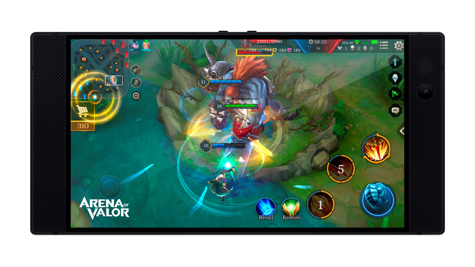 Razer Phone Games Arena of Valor 02