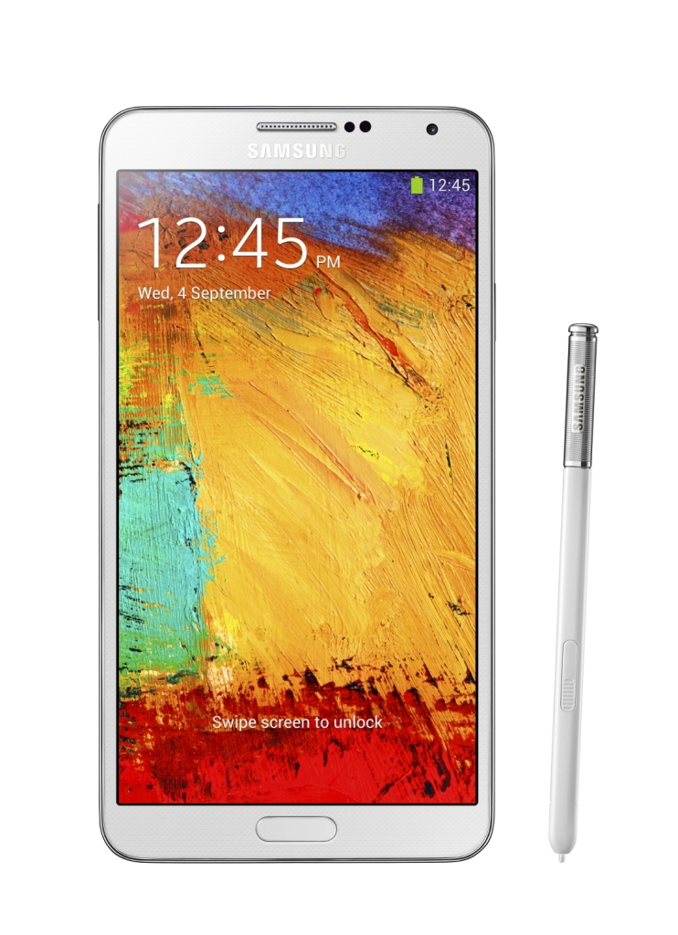 samsung Galaxy Note3 white pen