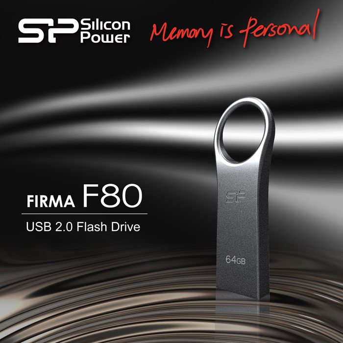 SP/Silicon Power introduce Firma F80:  Metallic Collection USB Flash Drive