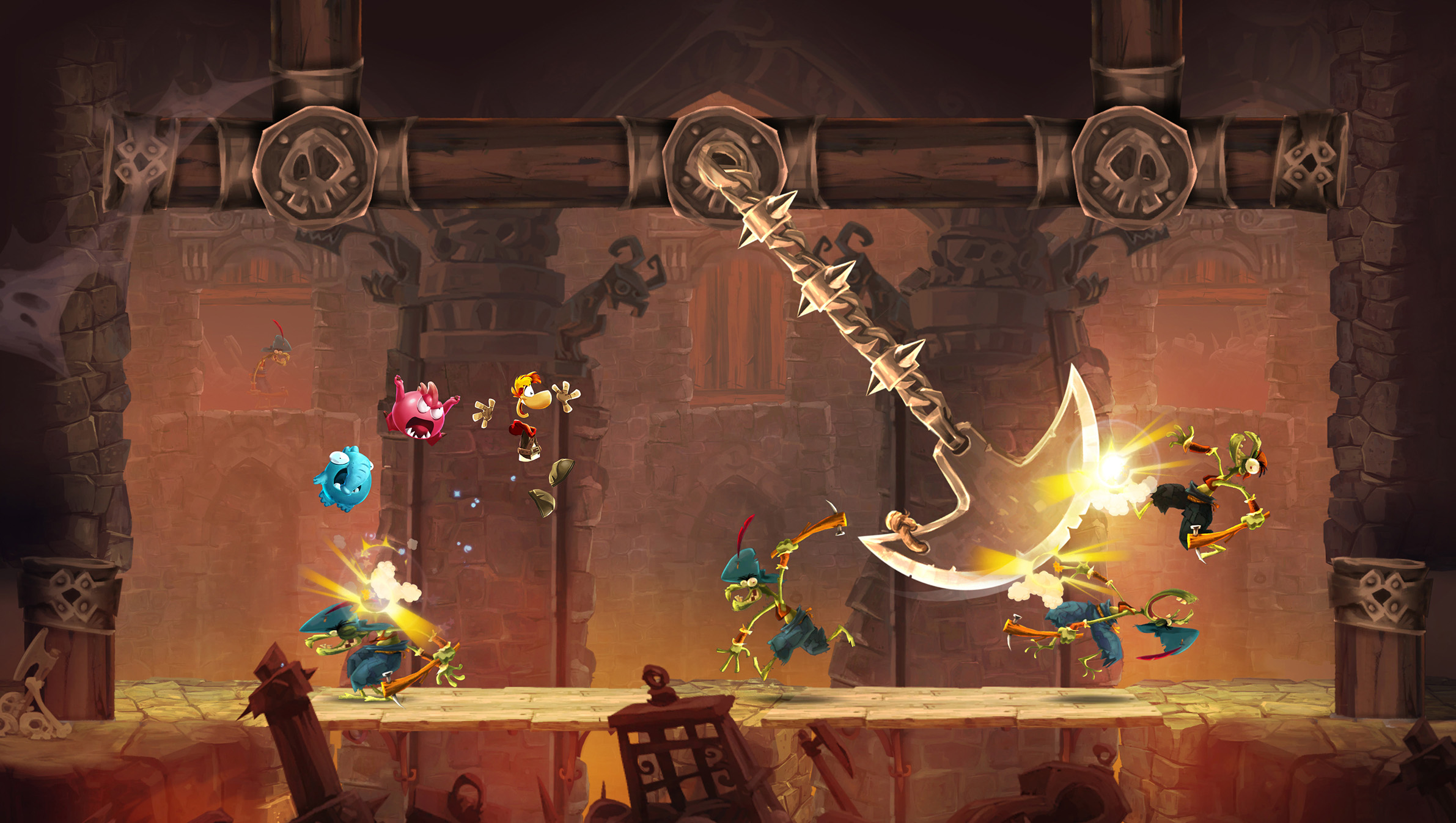 RA Screen Axe Rayman mobile launch