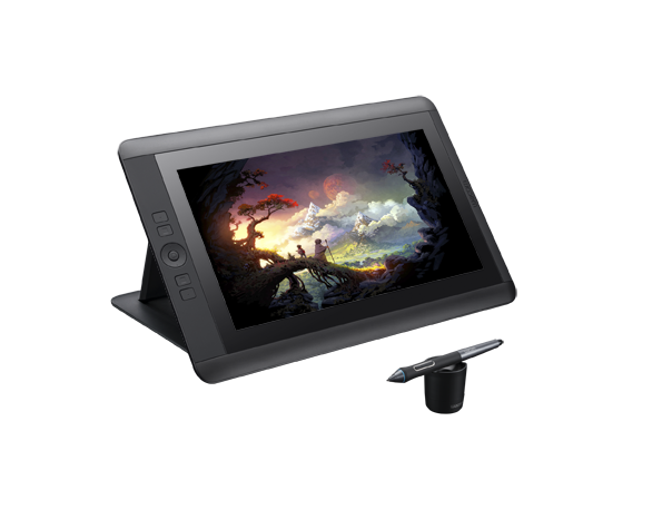 Cintiq 13HD DTK1300 LeftView RGB