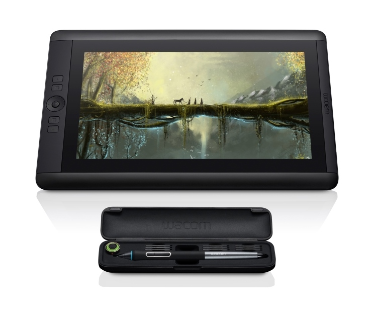 Cintiq 13HD touch DTH1300 FrontView RGB wPen Case