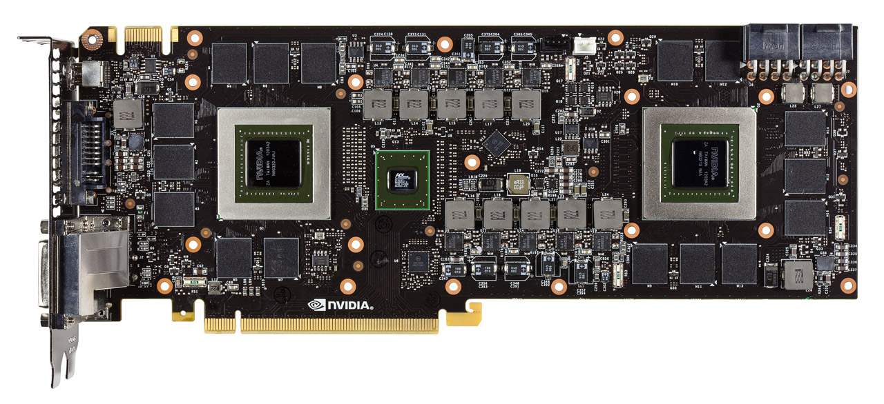 GeForce GTX 690 F bare PCB